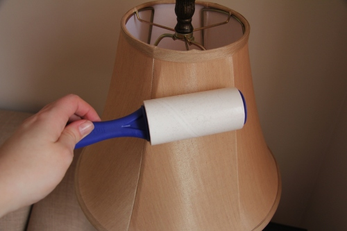 cleaning lampshade